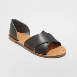 Women's Lois Crossband Sandals - Black